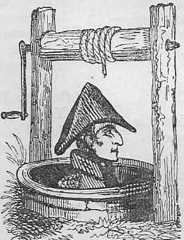 Wellington in well. Comic cut by Thomas Hood