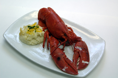 Lobster on p;late
