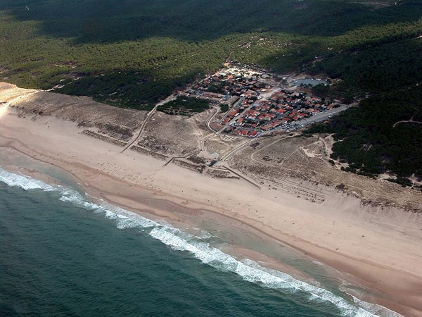 Aerial view of Carcans Plage S.W. France