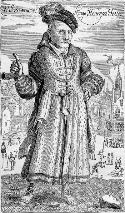 Will Sommers. Engraving ca. 1618
