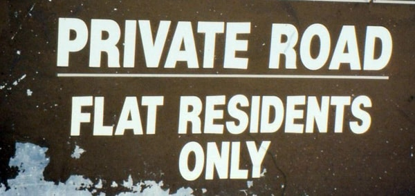 Property sign - Flat Residents Only