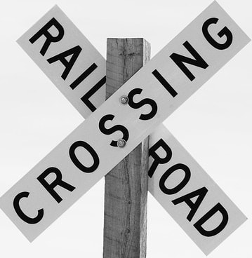 Amtrak Crossing Sign